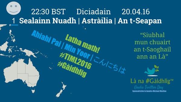 Latha na Gaidhlig - Sealainn Nuadh Astrailia an t-Seapan - 20.04.2016